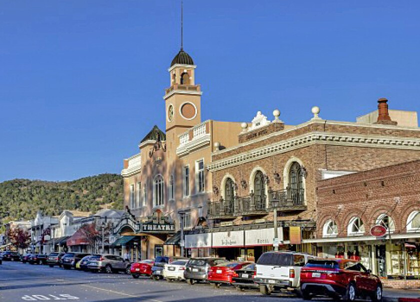 Downtown Sonoma, Calif., includes the historic Sebastiani Theatre and Sonoma Plaza.