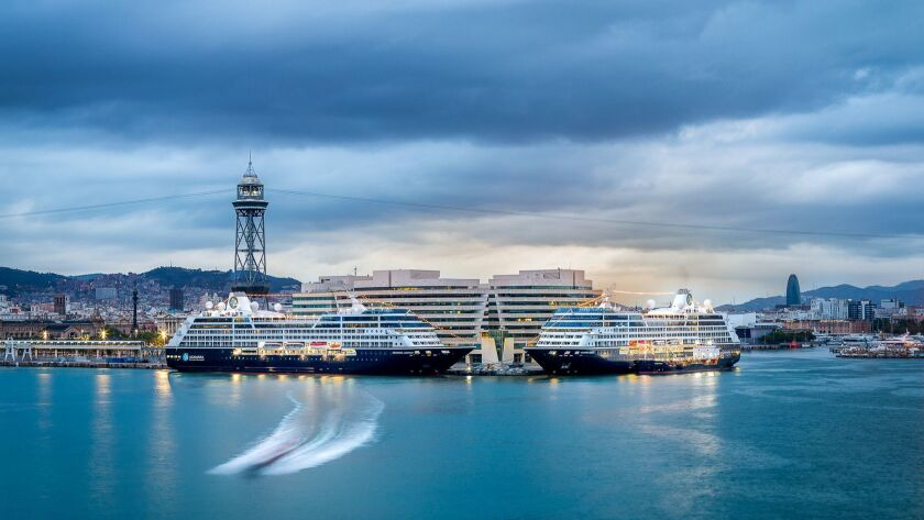 Azamara Club Cruises' new ship Pursuit will visit Barcelona as part of a 10-night tour to six cities in Spain. A stop at Almería offers a chance to visit the Tabernas Desert, the film location of numerous westerns.