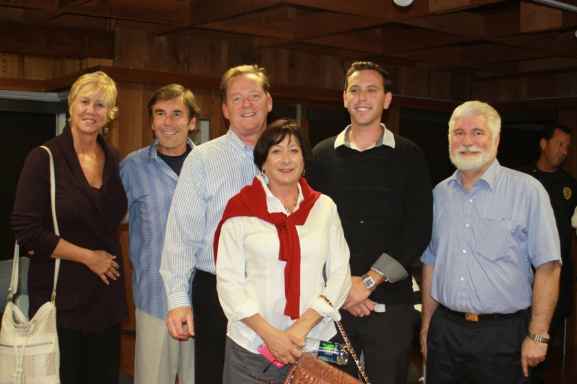 Angie Preisendorfer, John Sheridan, Brian Earley, Karen Marshall, Shahar Compton and Dave Gordon are the newly elected la Jolla Shores Association board members. They join (not pictured) re-elected members Tim Lucas, Izzy Tihanyi, Christian Malecot and Nick LaBeouf.