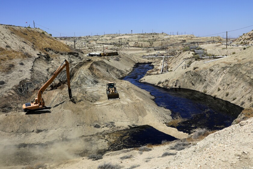 A leak at Cymric oil field in Kern County