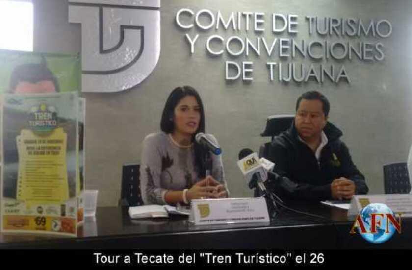 """Tour a Tecate del """"Tren Turístico"""" el 26"""