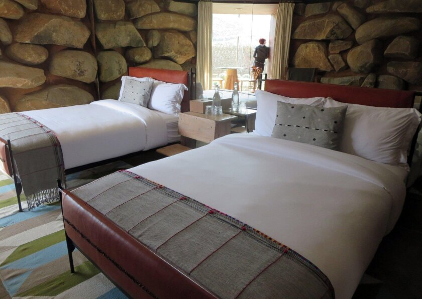 Casa Ocho at Bruma makes liberal use of the native boulders and other materials. Each guest room is uniquely designed.