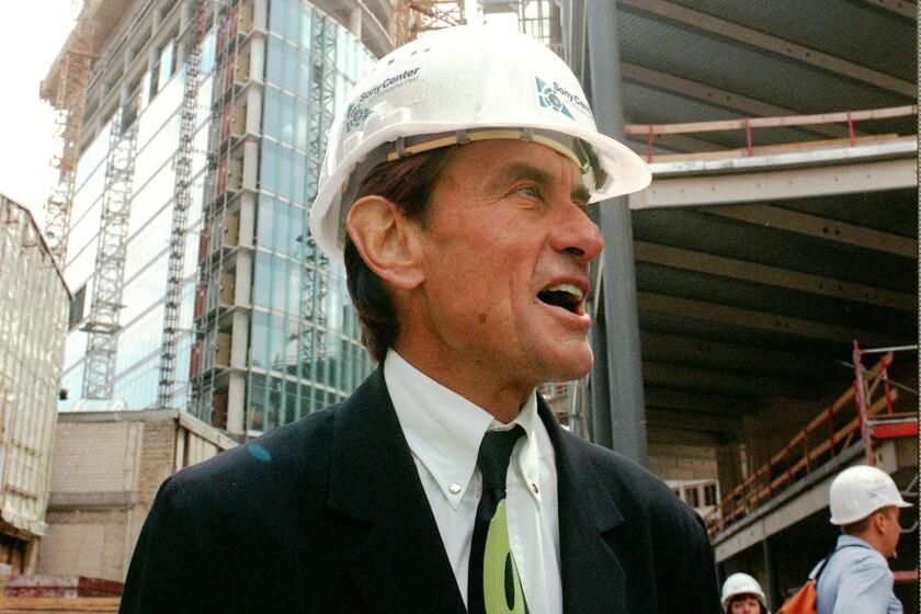 Architect Helmut Jahn in Berlin in 1998
