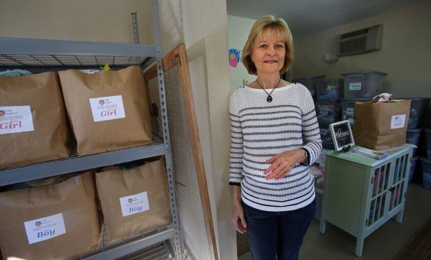 Gently Hugged co-founder Judy Blackford at headquarters in Rancho Bernardo