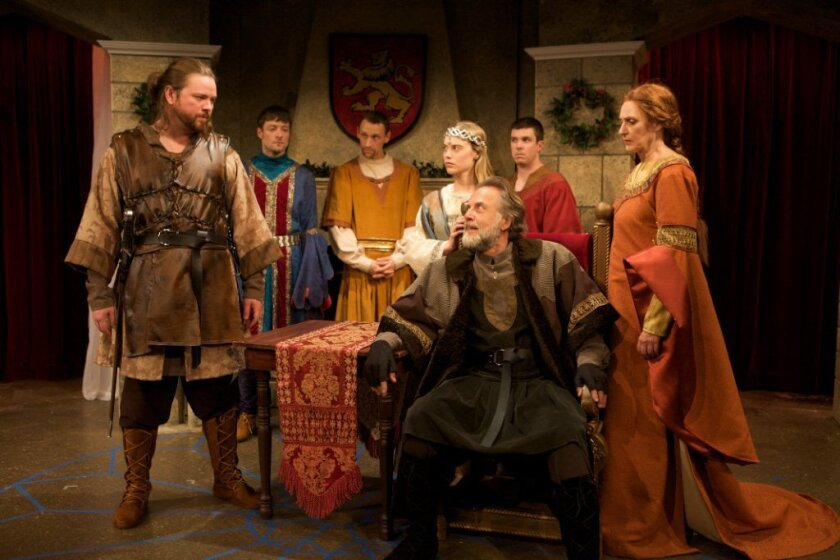 Richard Baird, Kyle Sorrell, Jason Maddy, Alexandra Grossi, Mark Pinter, Kyle Roche, and Kandis Chappell create interesting characters in James Goldman's 'The Lion in Winter.' Photo by Aaron Rumley