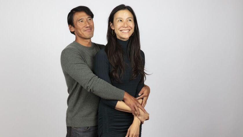 """TORONTO, ONT., CA -- SEPTEMBER 10, 2018-- Directors Jimmy Chin and Chai Vaserhelyi, from tje film """"F"""