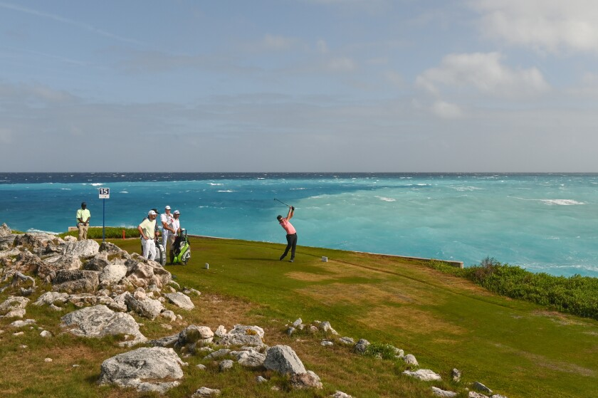 A golf course in the Bahamas.