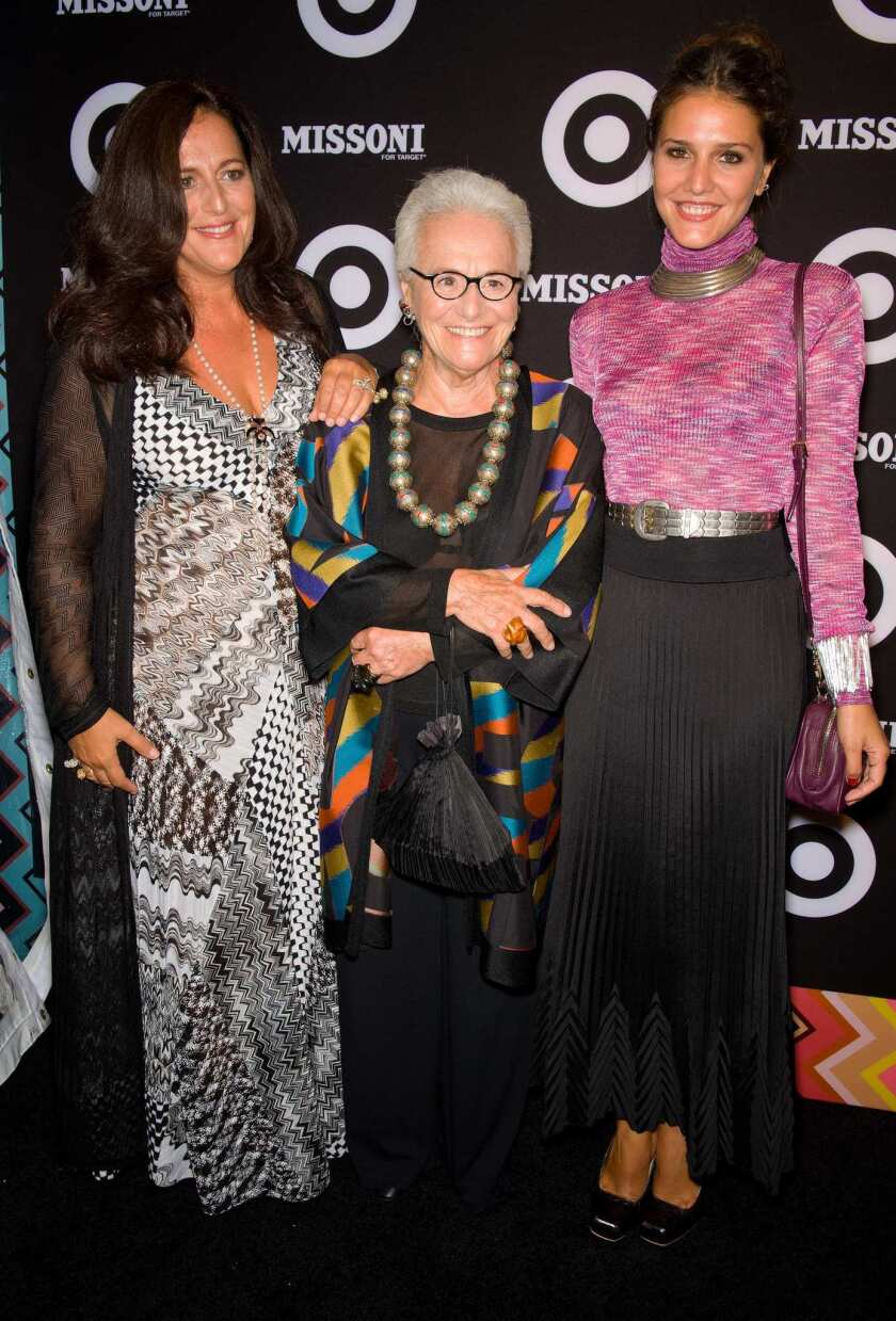 From left, Angela Missoni, Rosita Missoni and Margherita Missoni attend the Missoni for Target Collection launch.