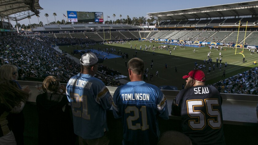 CARSON, CA, SATURDAY, AUGUST 5, 2017 - Fans drink beer on a terrace overlooking the Southwest end of