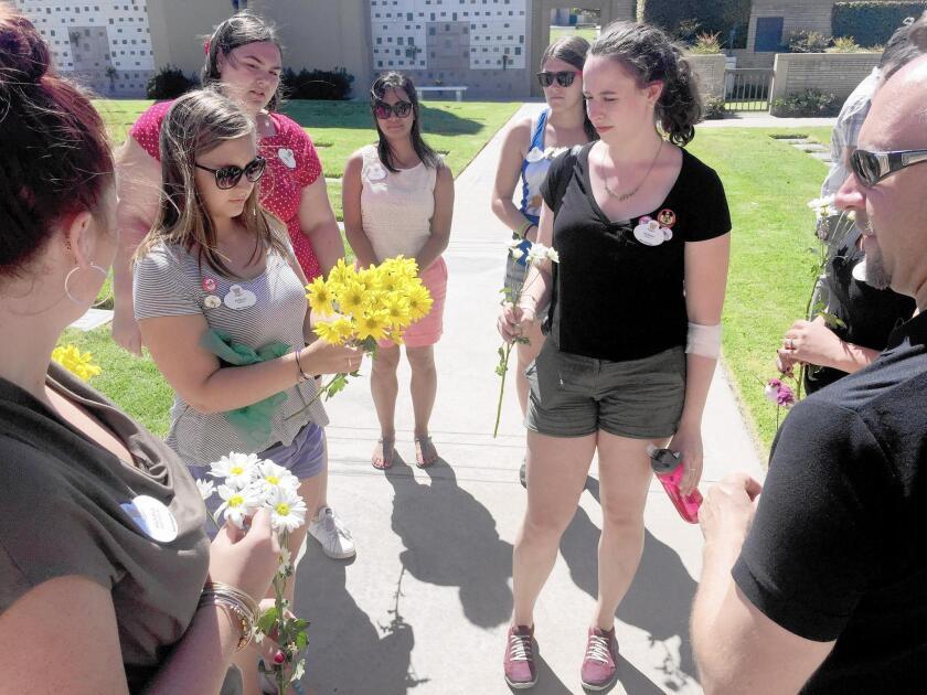 Students follow Walt Disney's path to California