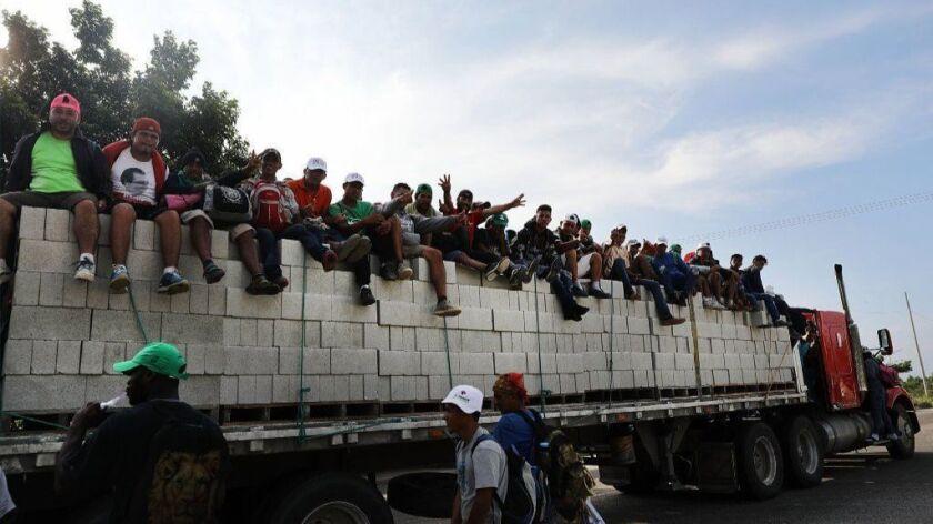 Thousands Of Hondurans In Migrant Caravan Continue March Through Mexico