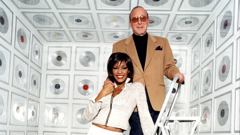 Clive Davis and Whitney Houston