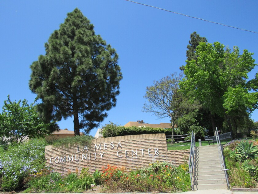 MacArthur Park in La Mesa includes the La Mesa Community Center. The city is looking for public input on the park's future.