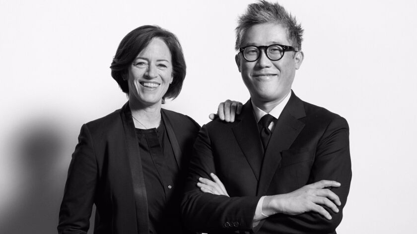 Sharon Johnston and Mark Lee, artistic directors of the Chicago Architecture Biennial.