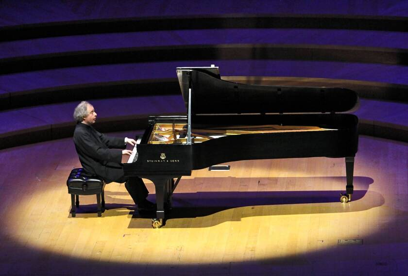 Andras Schiff continues his survey into Bach's keyboard music with a performance at Disney Hall.