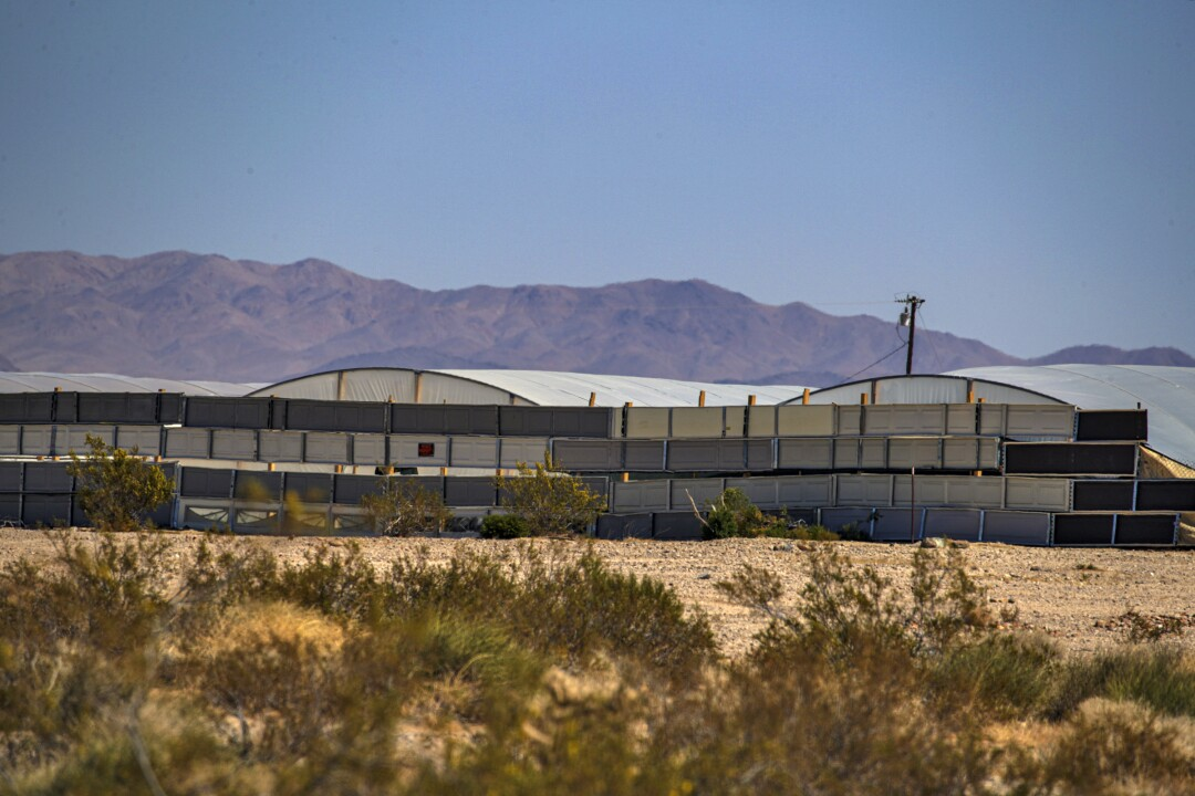 These structures were identified by a resident as part of an illegal pot farm in Joshua Tree.