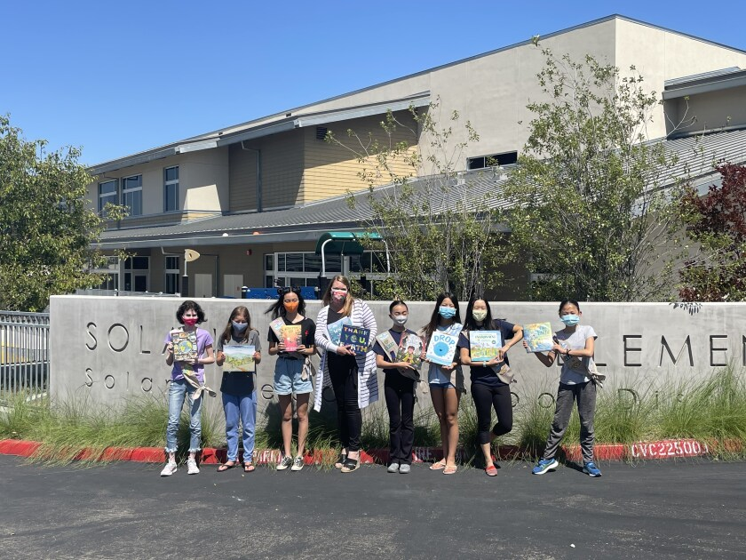 Troop 4524 members Kate Zhao, Alethia Li, Kira Block, Jennie Jin, Anita Qian, Maggie Liang, Liana Kleinberg and Jessie Chen.