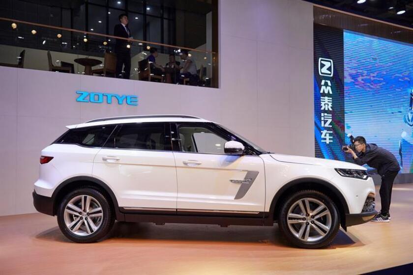El fabricante de automóviles Zotye anunció hoy que se convertirá en la primera automotriz china que venderá vehículos en Estados Unidos bajo su marca china a partir de 2020. EFE/Archivo/Stringer PROHIBIDO SU USO EN CHINA