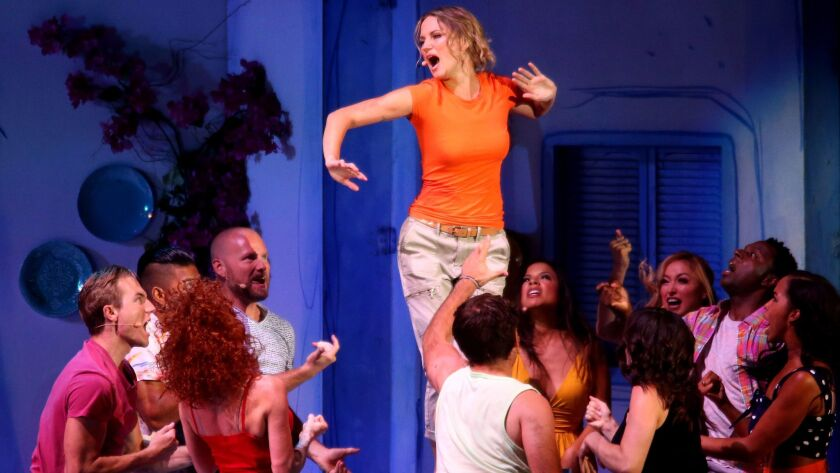 "Jennifer Nettles plays grown-up wild-child Donna in ""Mamma Mia!"" Friday at the Hollywood Bowl."