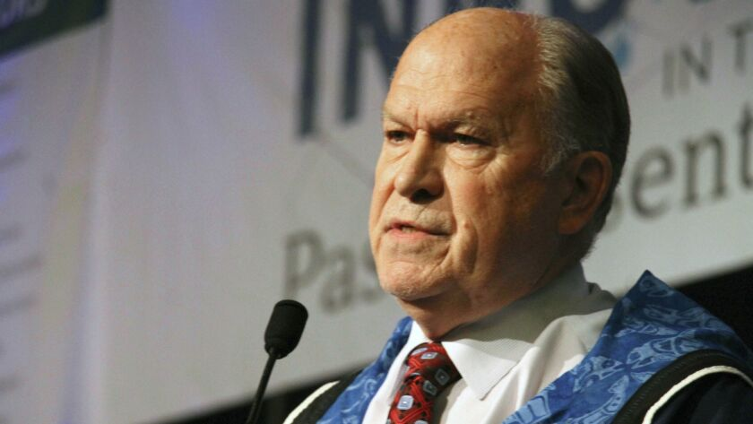 Alaska Gov. Bill Walker announces he will drop his reelection bid while addressing the Alaska Federation of Natives conference Friday in Anchorage, Alaska.