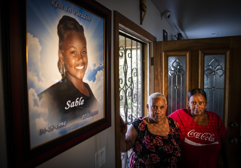 Sable Pickett's grandmother, Michelle Malveaux, and mother, Dana Lewis. The family waited in agony to hear from Pickett after she disappeared.
