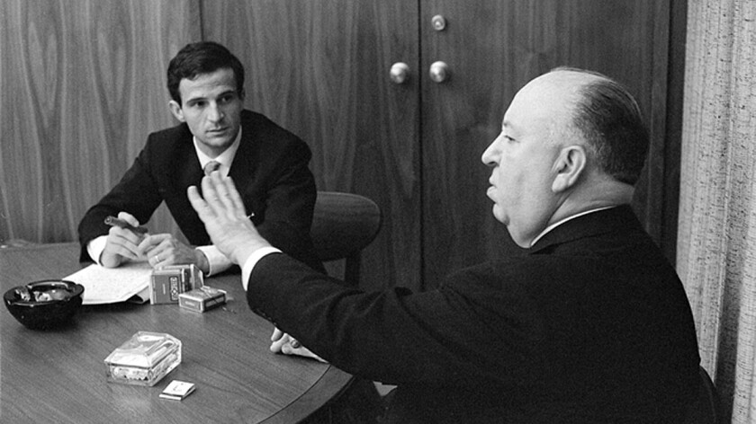 """François Truffaut interviews Alfred Hitchcock in Hollywood in 1962 for the book """"Hitchcock/Truffaut,"""" now the subject of a film by Kent Jones."""