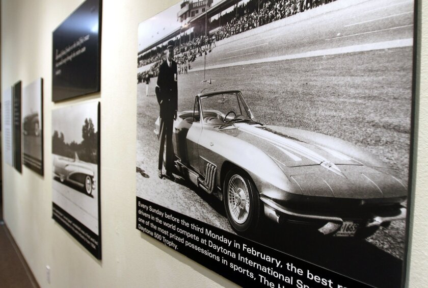 "An automobile exhibit at the Temecula Valley Musuem is dedicated to the life of Harley Earl, the first head of design at General Motors. He was the person who came up the idea of the ""concept car"" and was instrumental in the project that developed the Chevrolet Corvette."