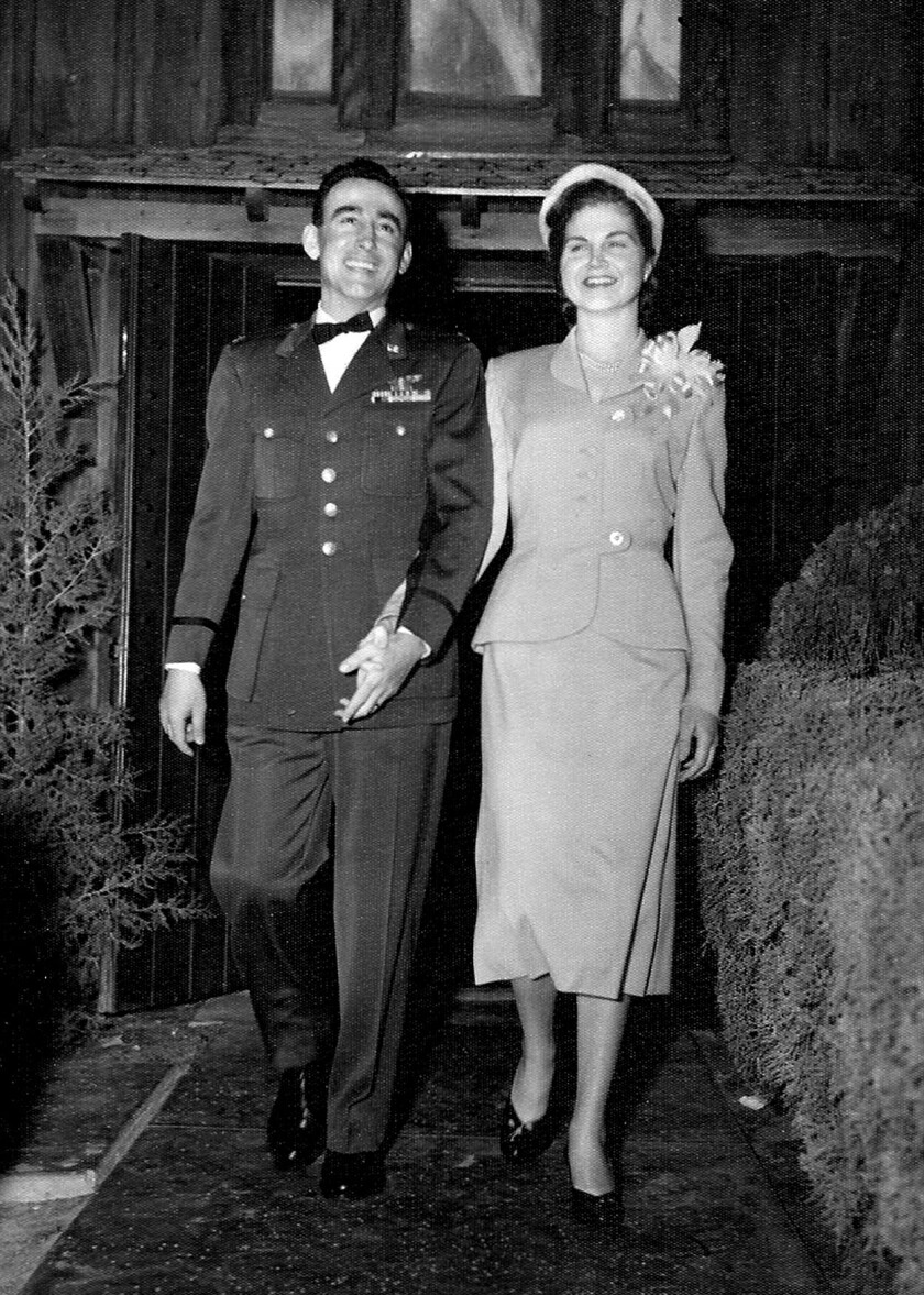 Jim and Edna Marantos on their wedding day in March 1954.