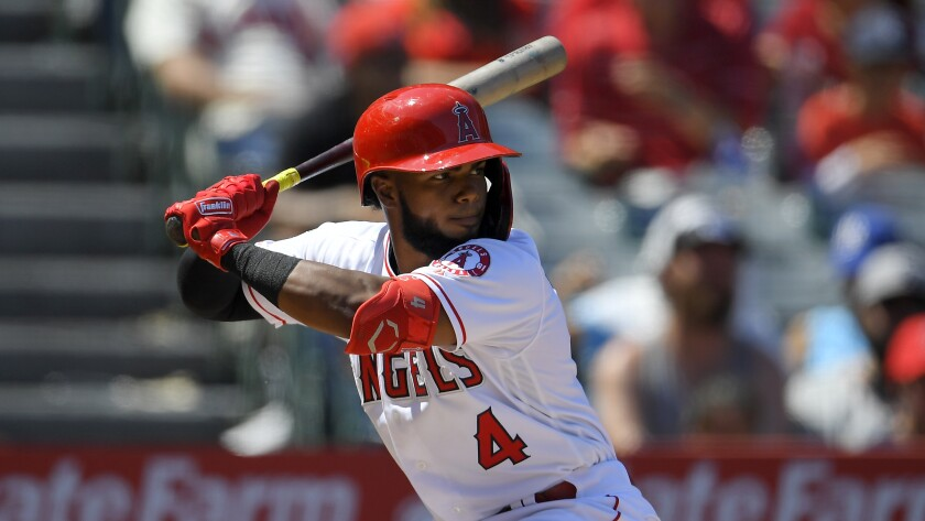 Angels rookie Luis Rengifo had been struggling at the plate prior to his injury Tuesday.