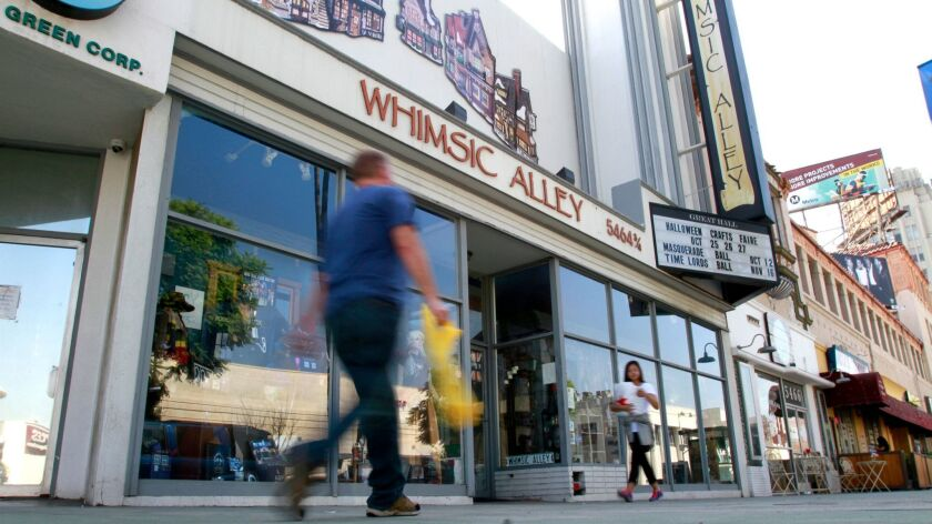 LOS ANGELES CA, OCTOBER 2, 2013: Whimsic Alley, a store on Wilshire Blvd. in Los Angeles was photogr