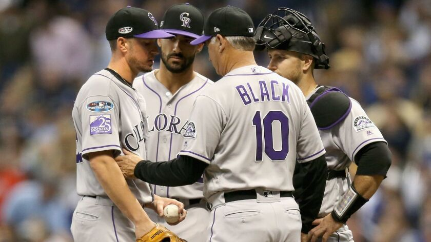 Former Padres manager Bud Black has led Colorado to the playoffs in back-to-back seasons for the first time in franchise history.