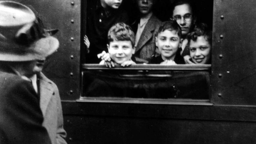 "Shown is a scene from ""Into the Arms of Strangers,"" a 2000 documentary about Kindertransport, a rescue operation that transported Jewish children from continental Europe to Britain."