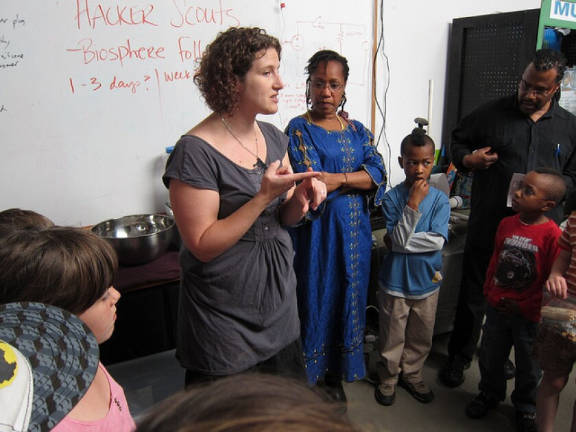 Samantha Matalone Cook helped launch Hacker Scouts as a better way to teach kids about science, technology and engineering.