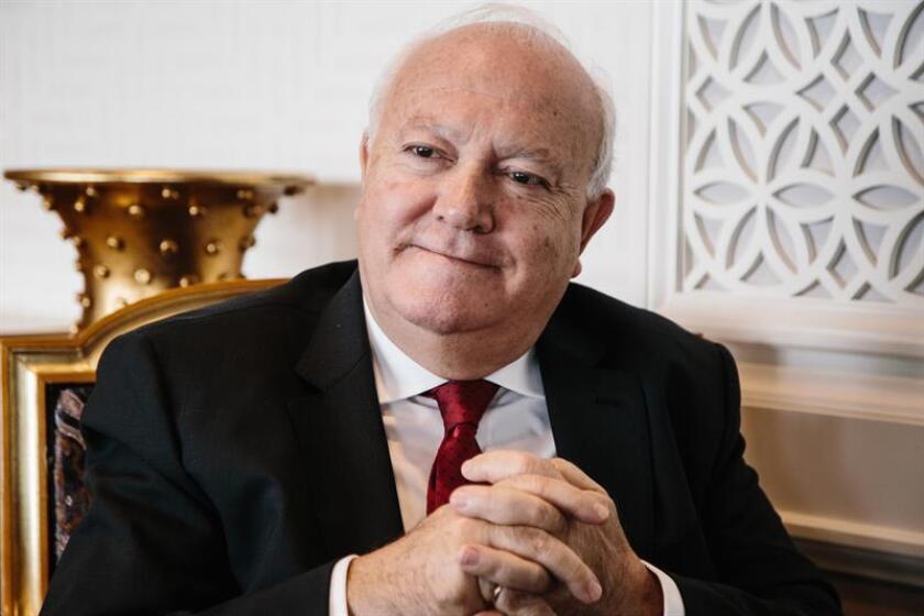 El exministro español de Exteriores Miguel Ángel Moratinos durante una entrevista con la agencia EFE en la sede de las Naciones Unidas en Nueva York (Estados Unidos) el 20 de noviembre de 2018. EFE