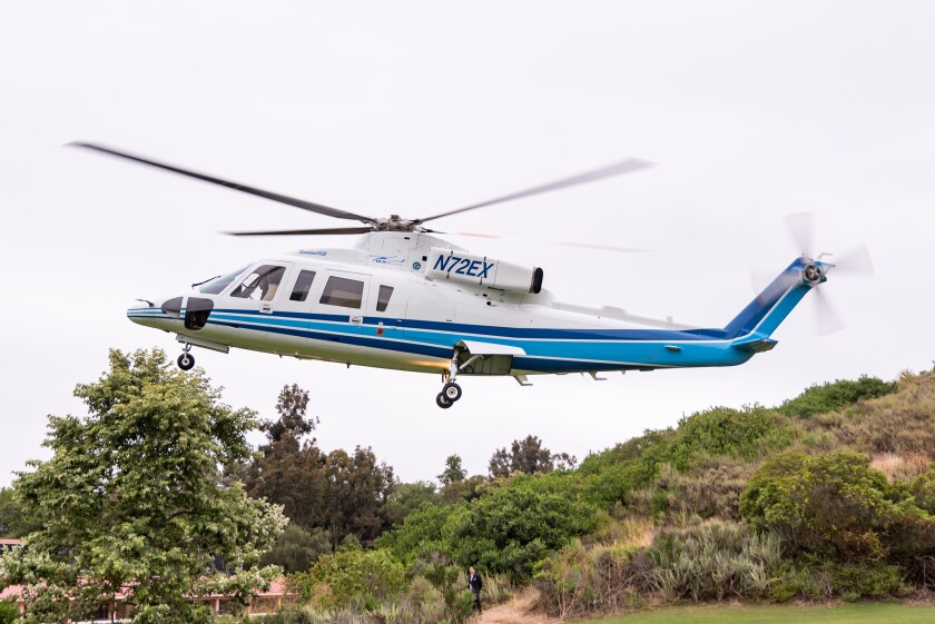 Sikorsky helicopter that Kobe Bryant used