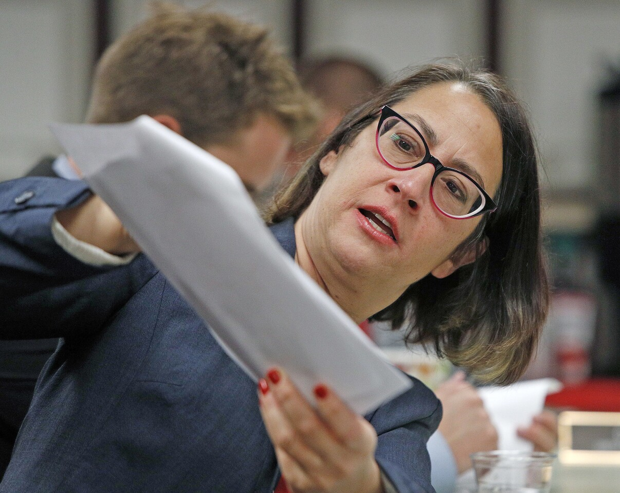 Photo Gallery: California Congressmember Laura Friedman and La Canada Flintridge City Council during morning breakfast meeting