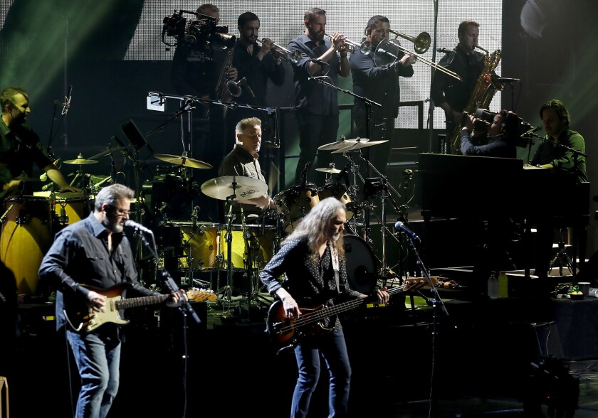 The Eagles perform at the Forum in Inglewood on Wednesday.