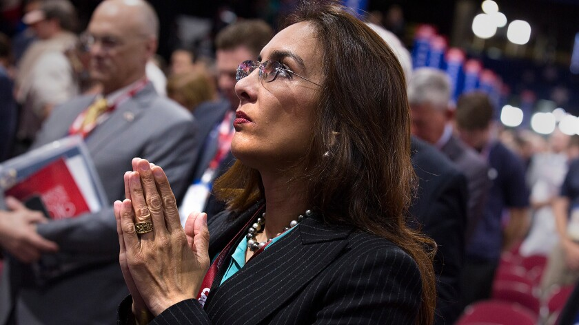 San Francisco lawyer Harmeet Dhillon delivered a Sikh prayer at the start of Tuesday's session of the Republican National Convention.