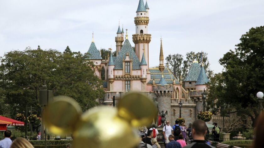 Disneyland Resort in Anaheim. Last month, California's leisure and hospitality sector, boosted by the holiday season, led the state's job growth.