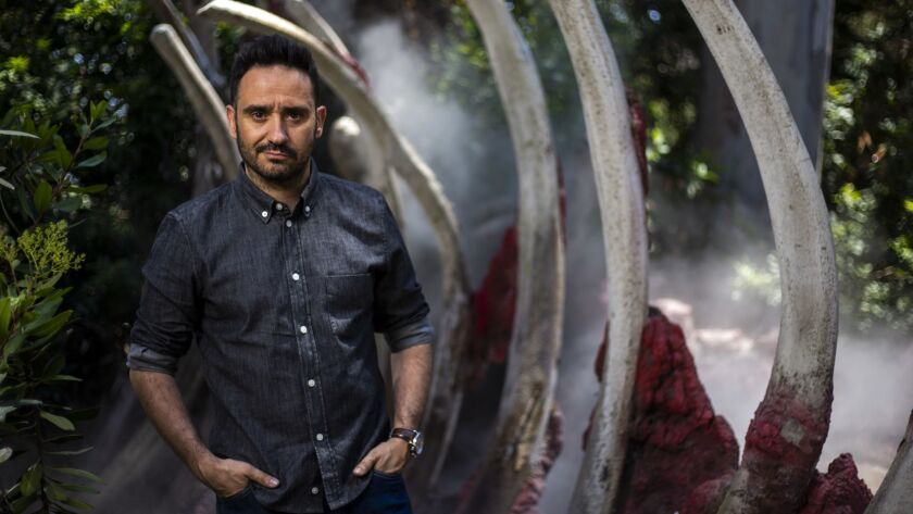 UNIVERSAL CITY, CALIF. - JUNE 12: J.A. Bayona, director of Jurassic World: Fallen Kingdom, poses for