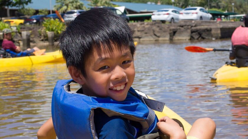 Jonah Min Hwang, 8, was killed in a drive-by shooting in Pomona on Feb. 20.
