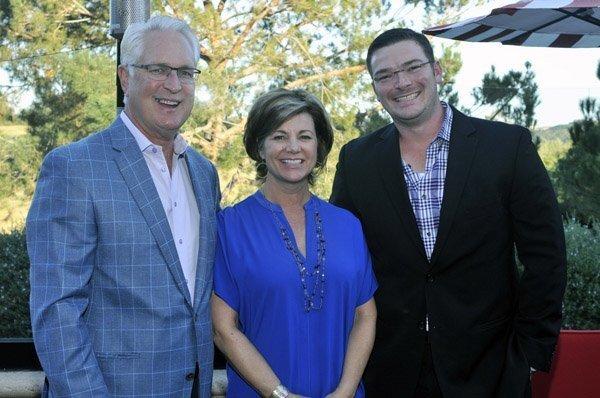 Former board member Ray and current board member Gina Ellis, Rueben Shaffer