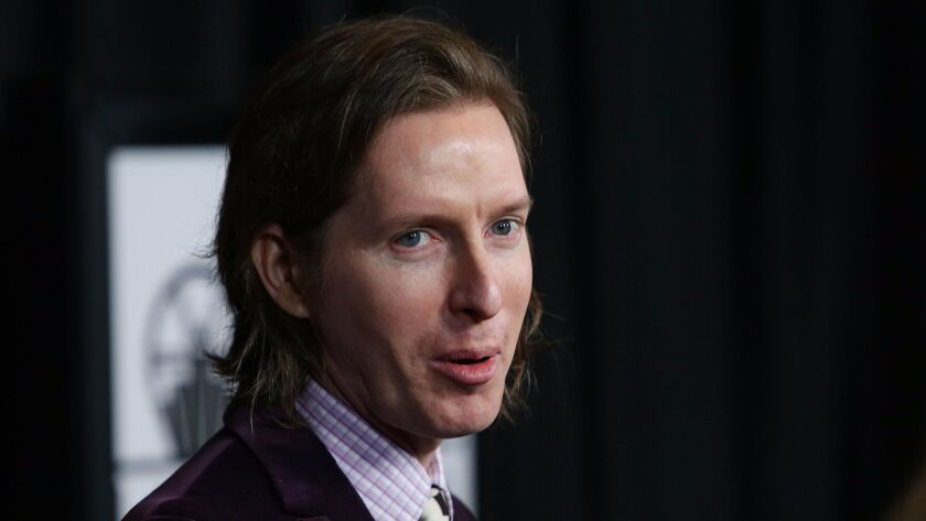 FILE - This Saturday, Jan. 10, 2015 file photo shows, Wes Anderson at the 40th Annual Los Angeles Fi