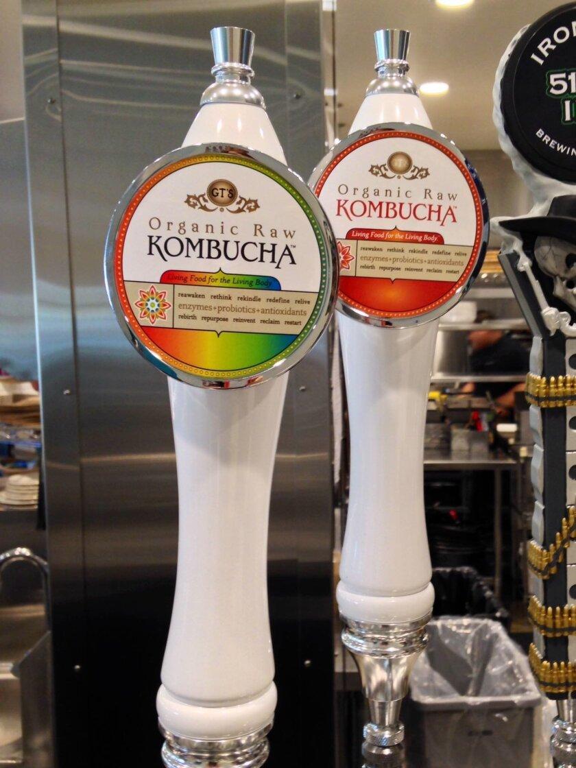 GT's Organic Raw Kombucha on tap at Urban Plates in Carmel Valley.