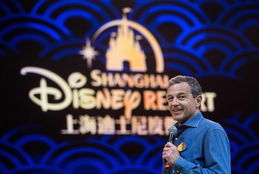 Chairman and CEO of Walt Disney Bob Iger at Shanghai Disney Resort in Shanghai in June 2016.