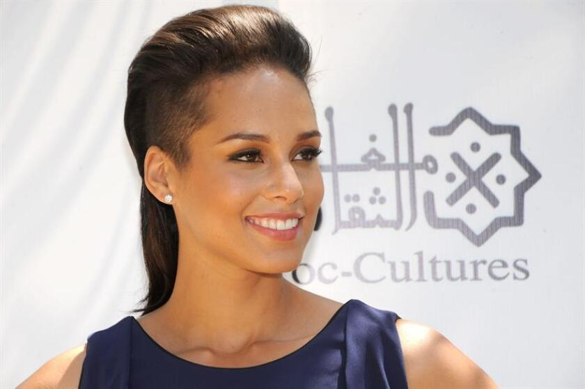 US singer Alicia Keys poses during a photocall at the 13th edition of the Mawazine music festival. EFE/EPA/FILE
