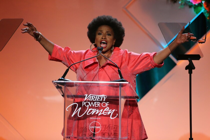 Emcee Jenifer Lewis onstage at Variety's Power of Women event at the Beverly Wilshire in Beverly Hills.