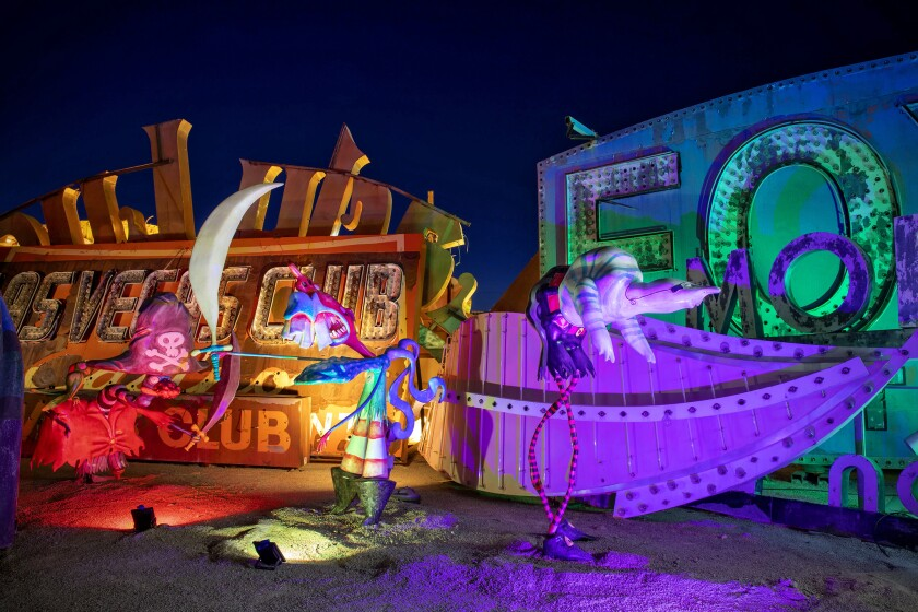 """Pirates"" by Tim Burton at the Neon Museum in Las Vegas."