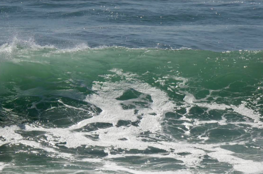 A swell out of the south pounded Del Mar on Saturday.