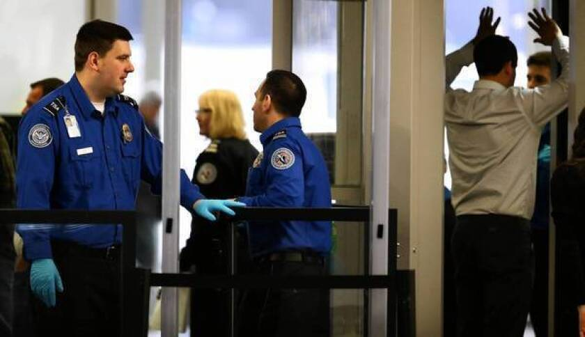 Transportation Security Administration reductions are expected to produce longer airport lines, possibly one of the most immediately visible effects of upcoming federal budget cuts.
